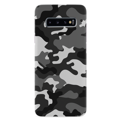 Black Abstract Camouflage Cover Case for Samsung Galaxy S10 Plus