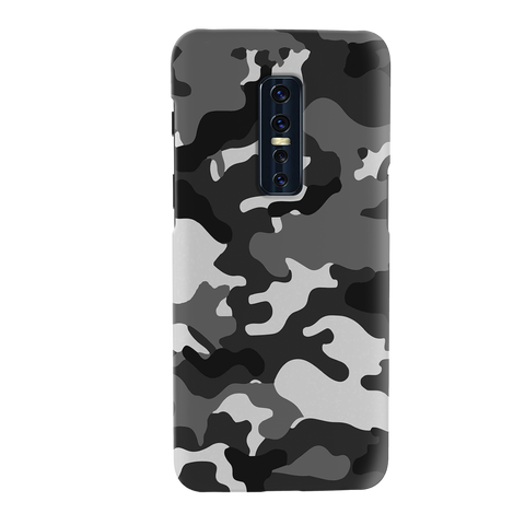 Black Abstract Camouflage Cover Case for Vivo V17 Pro