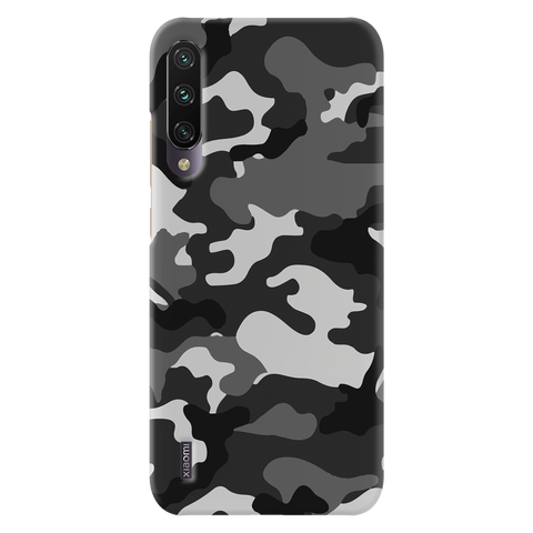 Black Abstract Camouflage Cover Case for Redmi A3