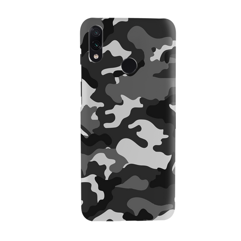 Black Abstract Camouflage Cover Case for Redmi Note 7 Pro