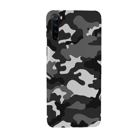 Black Abstract Camouflage Cover Case for Redmi Note 8