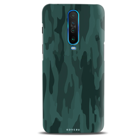 Green Camouflage Cover Case for Poco X2