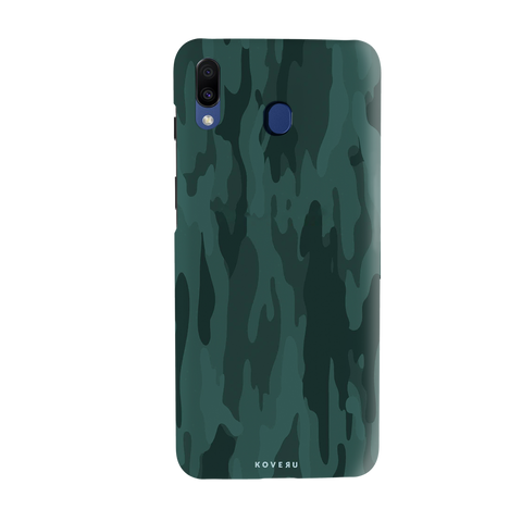 Green Camouflage Cover Case for Samsung Galaxy M20