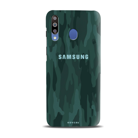 Green Camouflage Cover Case for Samsung Galaxy M30