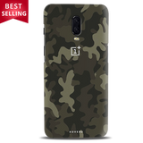 Brown Abstract Camouflage Cover Case For OnePlus 6T