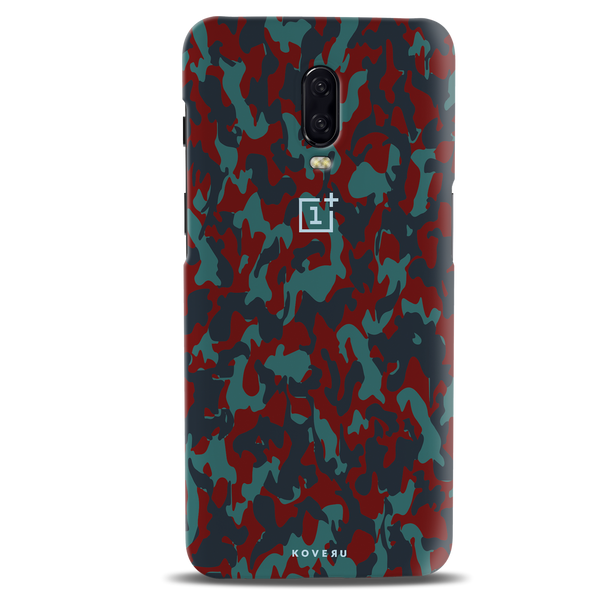 Red Camouflage Cover Case For OnePlus 6T