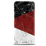 Red Geometric Marble Cover Case For OnePlus 6T