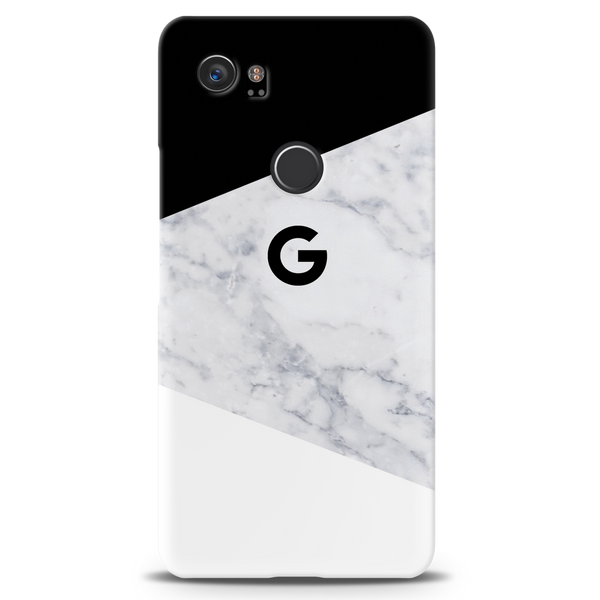 Geometric White Marble Cover Case For Google Pixel 2 XL