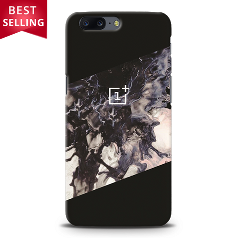 Black Splash Cover Case For For OnePlus 5