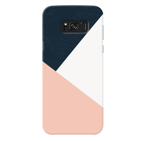 Blue Tricolor Pattern Cover Case For Samsung Galaxy S8