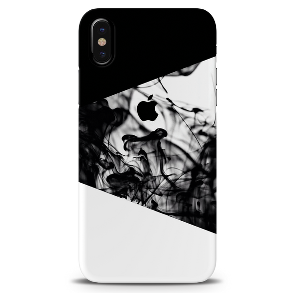 White Splash Cover Case For iPhone X