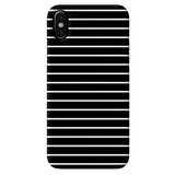 White Stripes On Black Cover Case For iPhone X