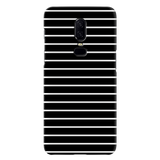 White Stripes On Black Cover Case For OnePlus 6
