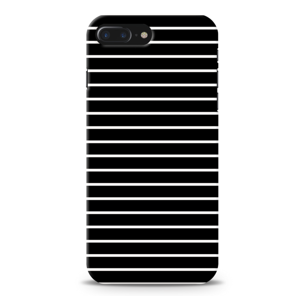 White Stripes On Black Cover Case For iPhone 7/8 Plus
