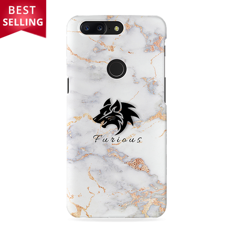 Furious Wolf Marble Cover Case For OnePlus 5T