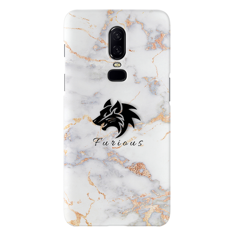 Furious Wolf Marble Cover Case For OnePlus 6