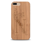 N Wooden Engraved Cover Case for Iphone 7 plus