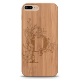 P Wooden Engraved Cover Case for Iphone 7 plus