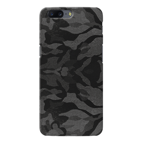 Black Patterned Camouflage Cover Case For OnePlus 5