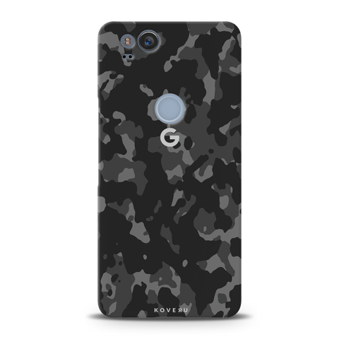 Black Camouflage Cover Case For Google Pixel 2