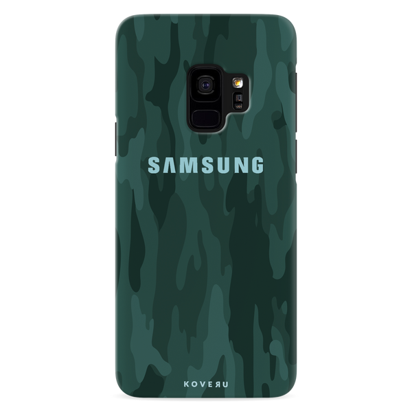 Green Camouflage Cover Case For Samsung Galaxy S9