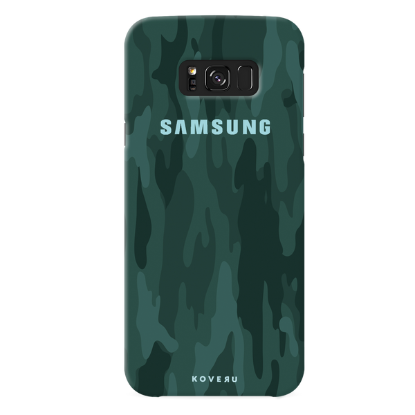 Green Camouflage Cover Case For Samsung Galaxy S8