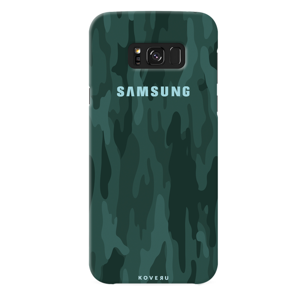 Green Camouflage Cover Case For Samsung Galaxy S8 Plus