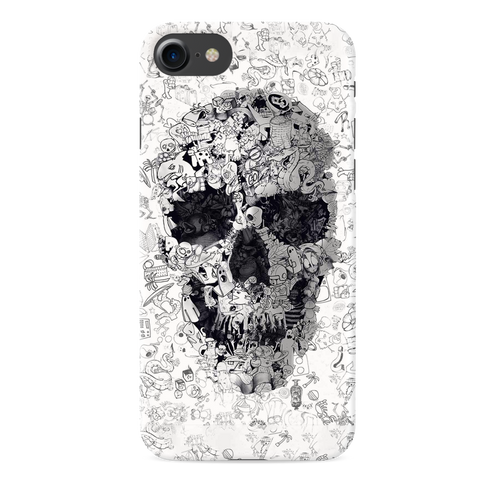 Skull Doodle Cover Case For iPhone 7/8