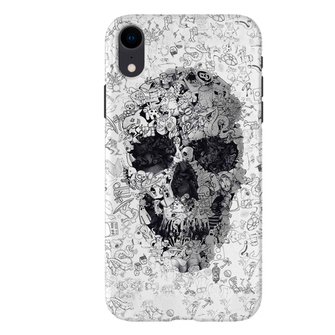 Skull Doodle Cover Case For iPhone XR