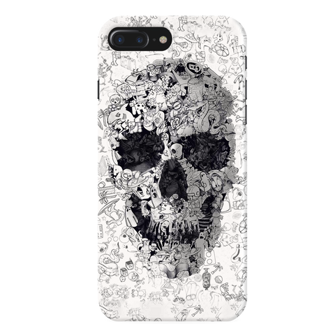Skull Doodle Cover Case For iPhone 7/8 Plus