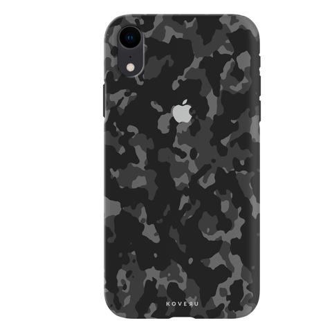 Black Camouflage Cover Case For iPhone XR