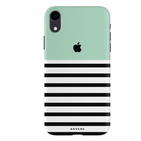 Stripes on Green Cover Case For iPhone XR