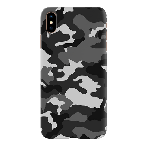 Black Abstract Camouflage Cover Case for iPhone XS Max