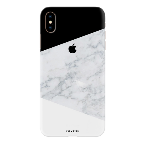 Geometric White Marble Cover Case for iPhone XS Max