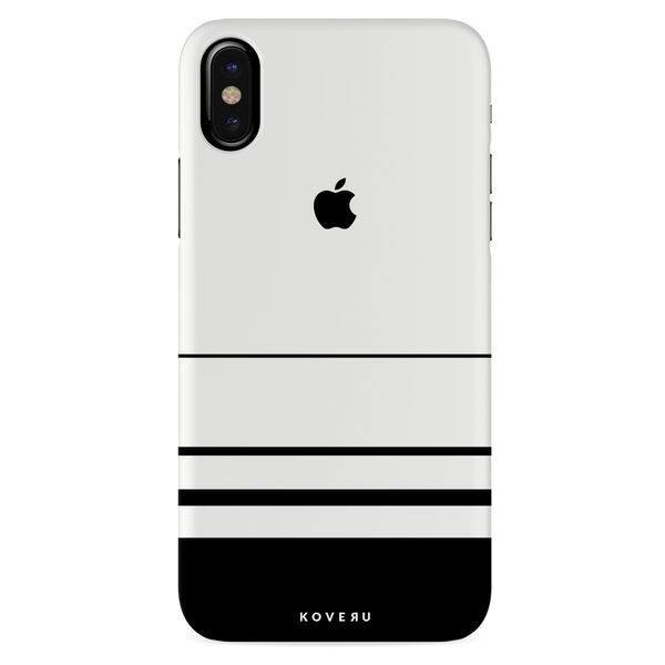 White Horizon Stripes Cover Case For iPhone X