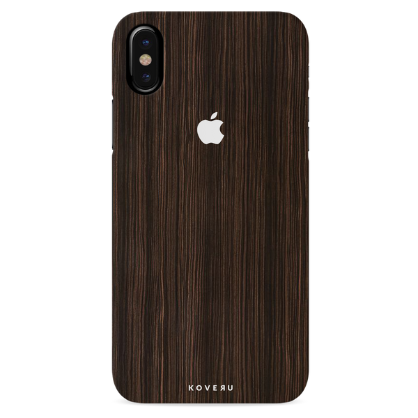Wooden Texture Back Cover Case For iPhone XS