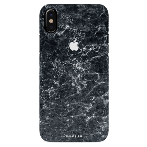Grey Marble Cover Case For iPhone XS