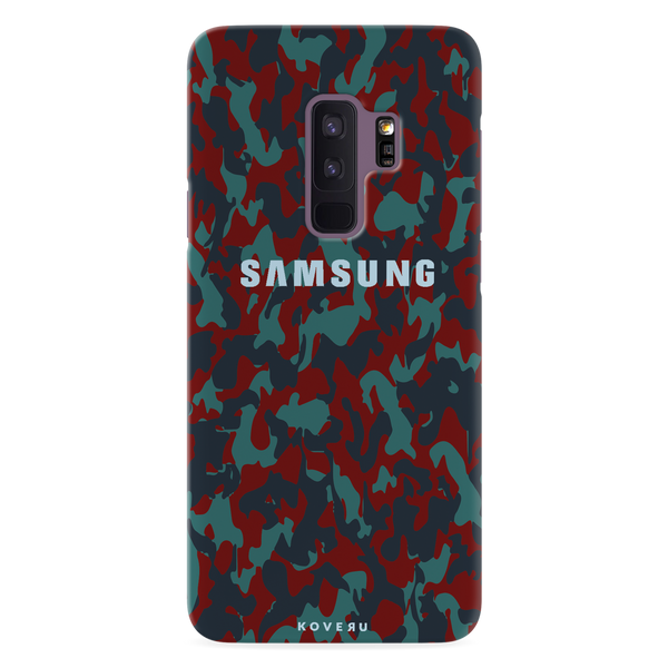 Red Camouflage Cover Case For Samsung  Galaxy S9 Plus
