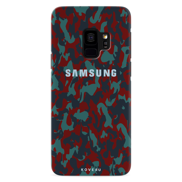 Red Camouflage Cover Case For Samsung  Galaxy S9