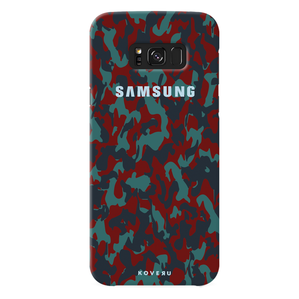 Red Camouflage Cover Case For Samsung  Galaxy S8