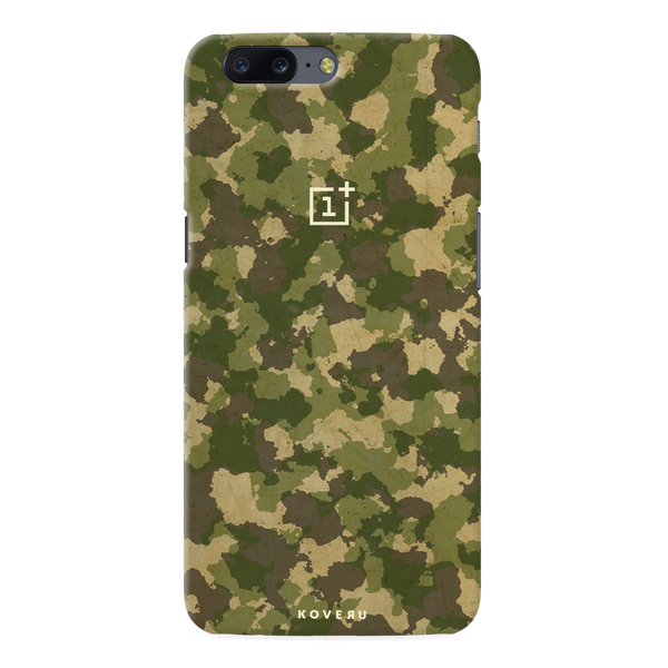 Yellow Camouflage Cover Case For OnePlus 5