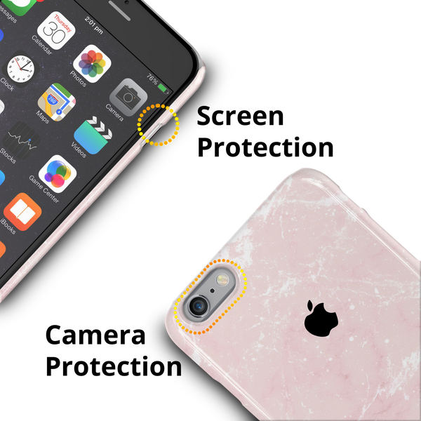 Baby Pink Marble Cover Case For iPhone 6/6S