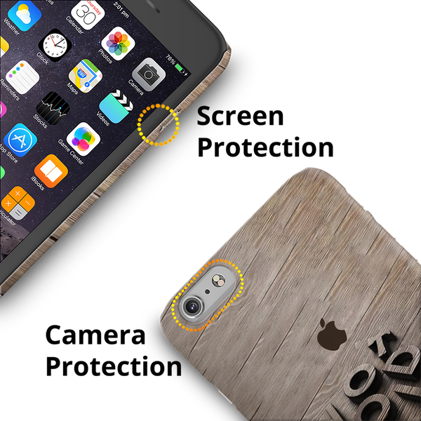 Wooden WOT Cover Case For iPhone 6/6S Plus