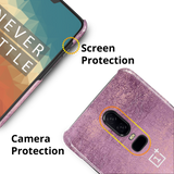 Mauve Marble Texture Cover Case For OnePlus 6