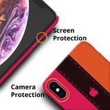 Fuchsia Pink Orange Stripes Cover Case for iPhone XS Max