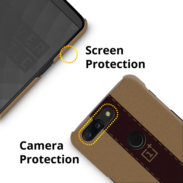 Dairy Cream And Brown Bramble Stripes Cover Case for OnePlus 5T