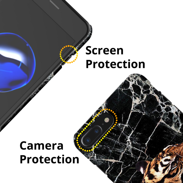 Tiger Marble Cover Case for iPhone 7/8 Plus