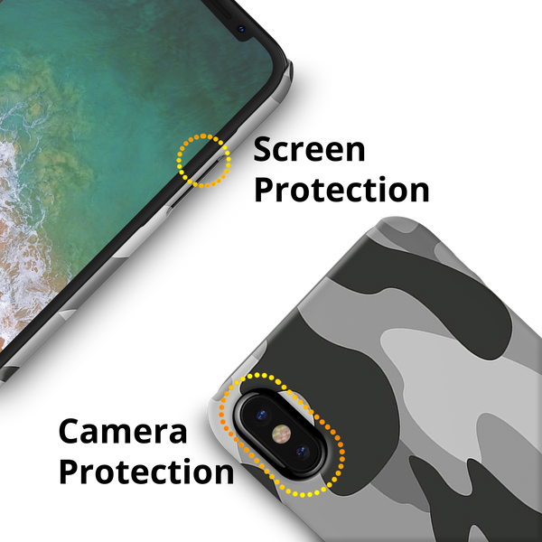 Black Army Camouflage Cover Case For iPhone X