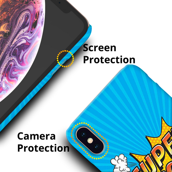 Super Mom Pop Art Cover Case For iPhone XS Max