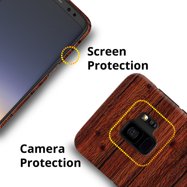 Wooden Printed Cover Case For Samsung Galaxy S9